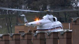 Вертолеты Ми-8МТВ-1 приземляются в Кремле