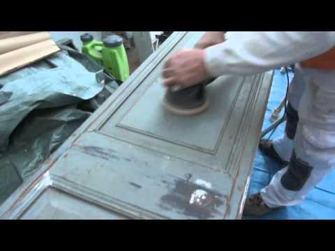 Lacado y restauracion puertas interior youtube - Como arreglar puertas de madera ...