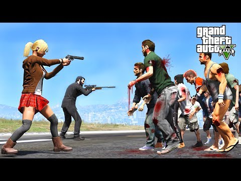 Thumbnail: HUGE ZOMBIE APOCALYPSE DESTROYS LOS SANTOS - GTA 5 END OF LOS SANTOS MOD