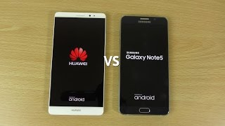 Huawei Mate 8 VS Samsung Galaxy Note 5 - Speed & Camera Test!