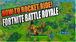 Tutorial // Rocket Riding // Fortnite Battle Royale