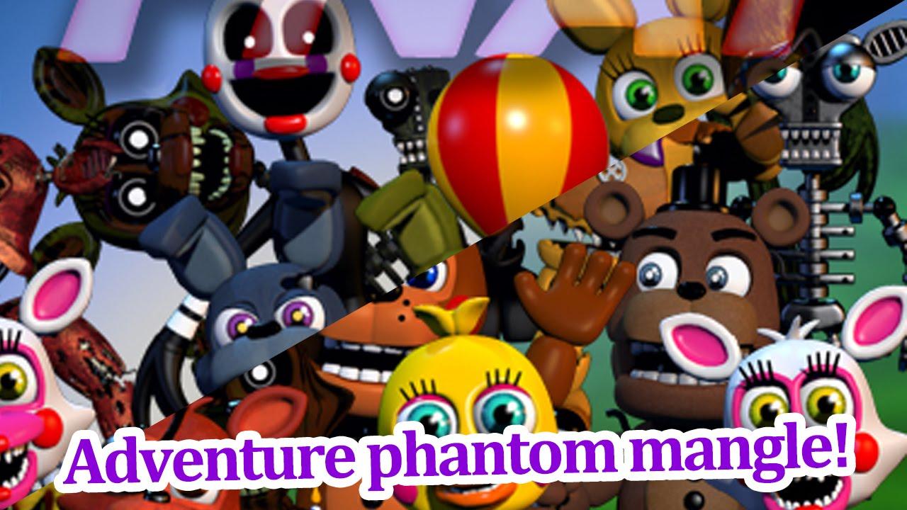 Adventure Phantom Mangle And Freddy Revealed Fnaf World