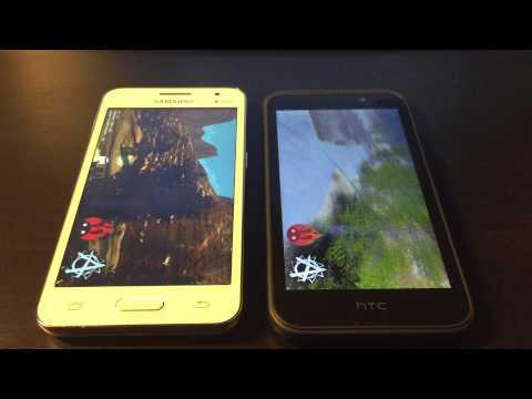 HTC Desire 320 vs Samsung Galaxy Core 2 - Benchmark Test - english