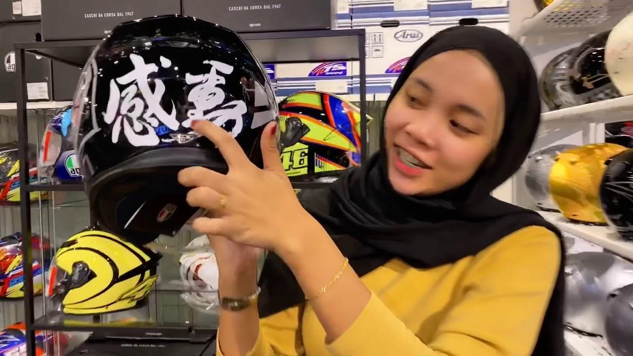 Agv K5 Jet Open Face Double Visor Helmet Kedaipenjualhelmet Valentinorossi Agvhelmet Youtube