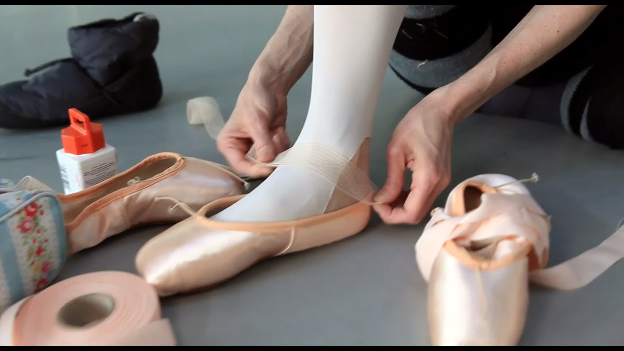 0c865d620 How ballet dancers prepare pointe shoes for performance - YouTube