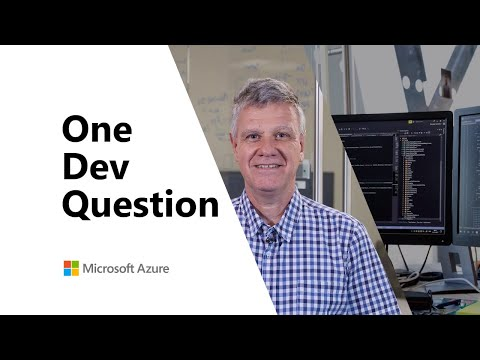 What Is The Microsoft Identity Platform? | One Dev Question: Jean-Marc Prieur