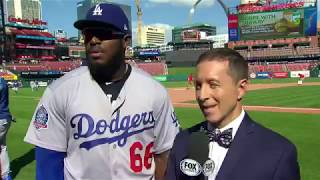Yasiel Puig Postgame Interview | Dodgers vs Cardinals