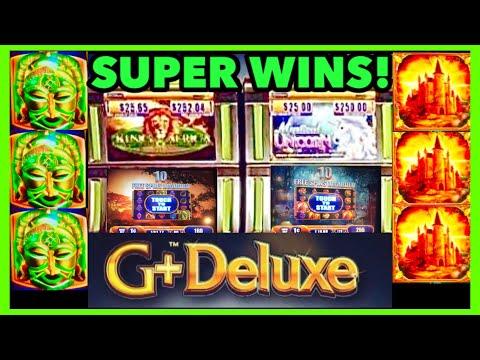 SUPER BIG WINS!!! King of Africa & Mystical Unicorn WMS Slot Machine Bonuses!