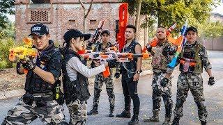 LTT Game Nerf War : Winter Warriors SEAL X Nerf Guns Fight Criminal Group Rocket Weapon Thief Broke