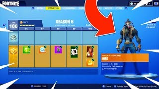 "*NEW* SEASON 6 ""TIER 100"" MAX BATTLE PASS SHOWCASE! (Fortnite: Battle Royale)"