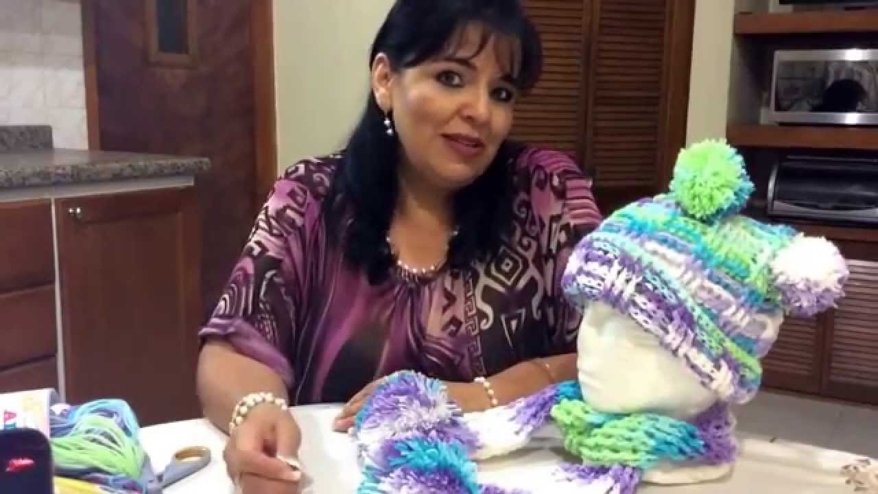 Juego de Gorro y Bufanda , Tejido en crochet , Tejiendo con Laura Cepeda