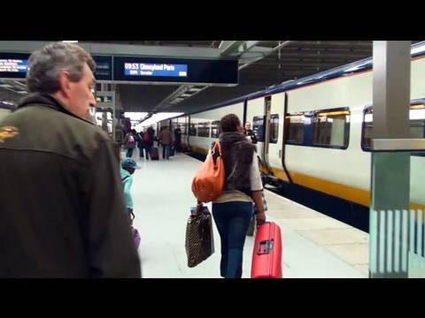 Disneyland Paris by Eurostar High Speed Train - Arriving at Marne-la-Vallée Chessy HD