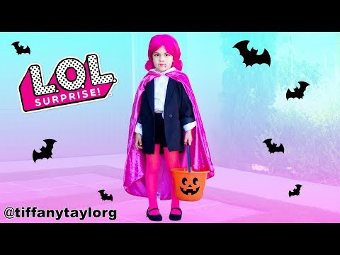 EASY DIY How to Real Life L.O.L Doll Countess BEST Halloween Costume Makeover