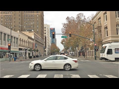 Driving Downtown - Silicon Valley's Capital - San Jose California USA
