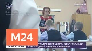 Прокуратура проверит школу, где учительница назвала детей тупыми и убогими - Москва 24