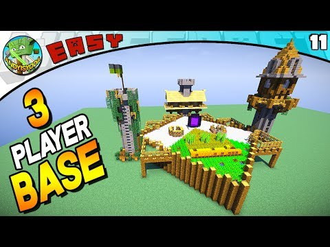 3-Player Survival Base (Minecraft 1.12 EASY Build #11)