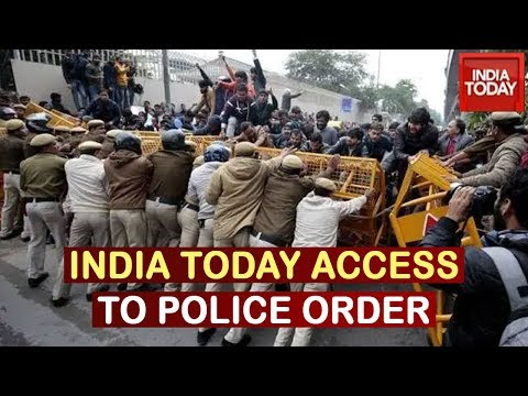 Delhi Anti-CAA Stir : India Today Accesses Delhi Police Order On Mobile Internet