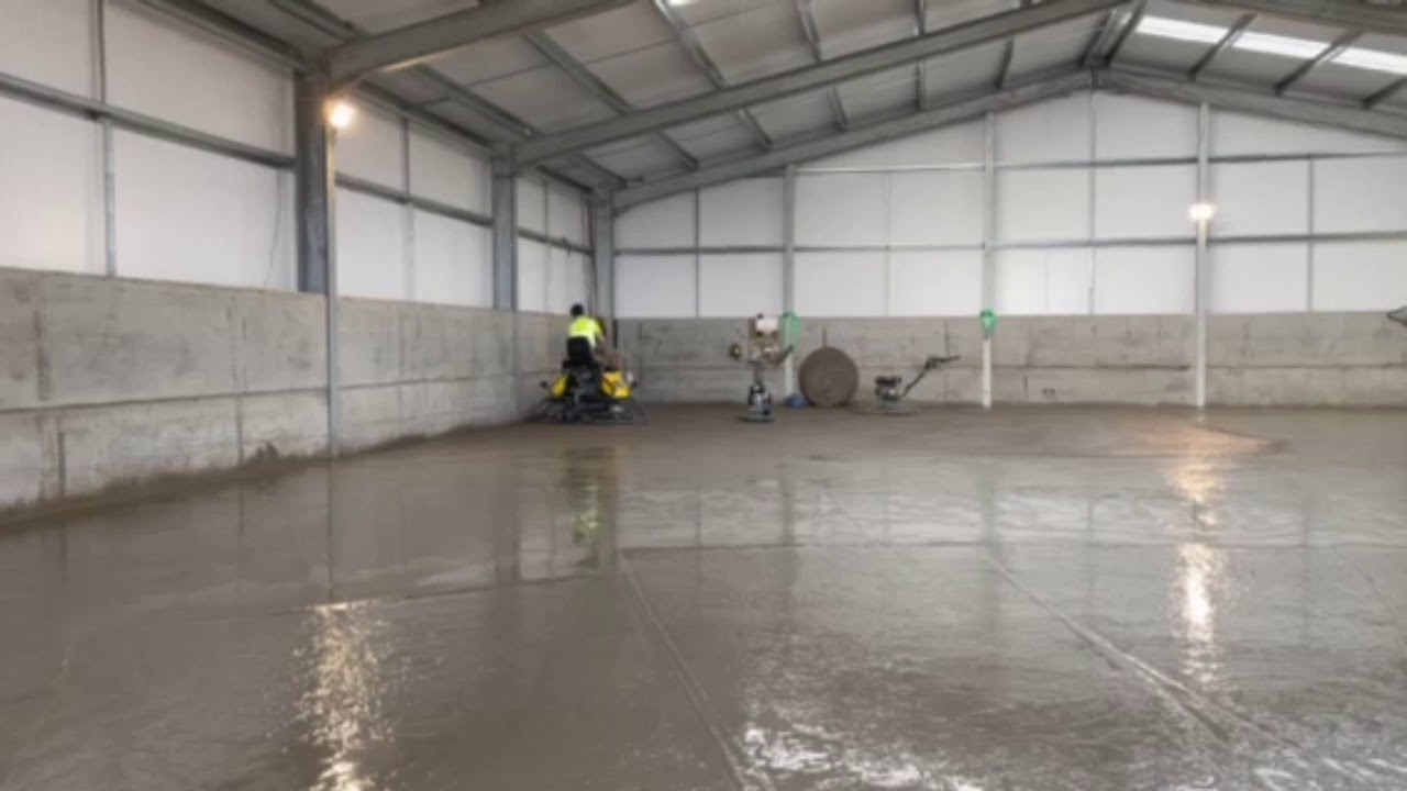 Installation of high quality concrete floor