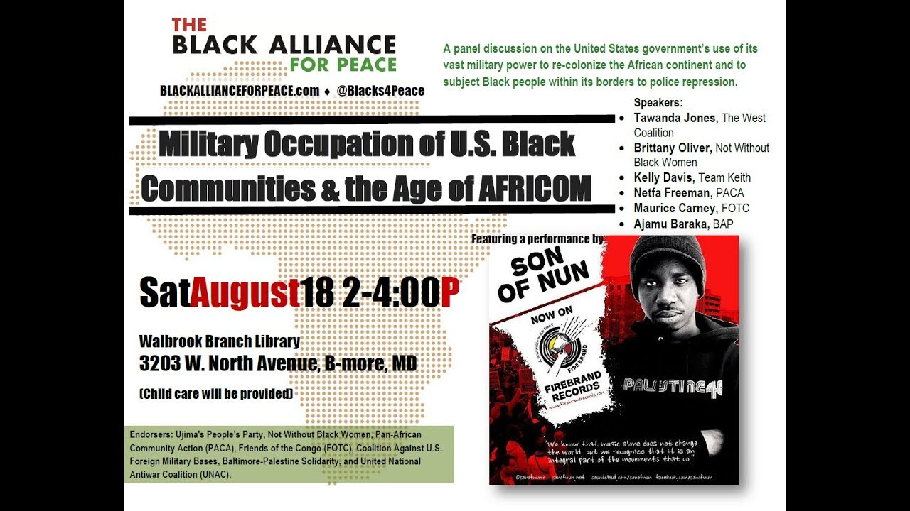 BAP Statements — The Black Alliance for Peace