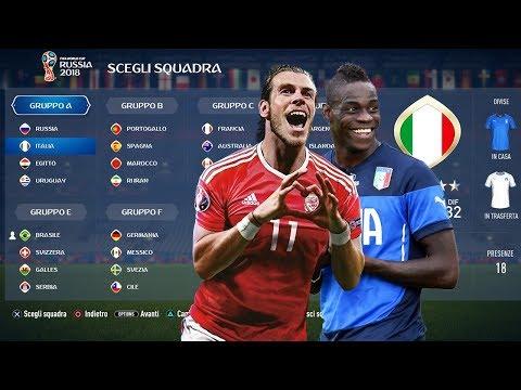Chi vincerebbe il Mondiale se ITALIA,GALLES,OLANDA e CILE si fossero Qualificate? Miti di Fifa