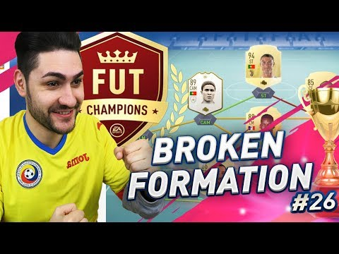 FIFA 19 BROKEN FORMATION in FUTCHAMPIONS - BEST FORMATION FOR SHOOTING in FUT 19!!!