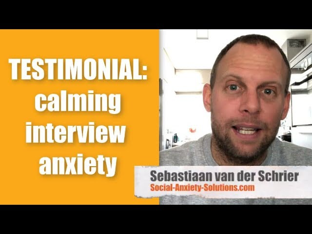 Testimonial: Calming Interview Anxiety