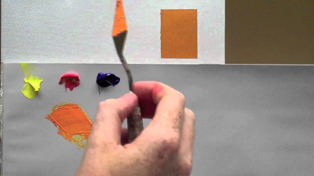 Colour Mixing Basics Acrylic Painting Technique To Match A Colour