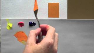 Colour mixing basics - Acrylic painting technique to match a colour