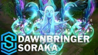 Dawnbringer Soraka Skin Spotlight - League of Legends