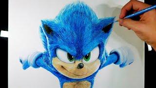 Cómo dibujar a Sonic Realista | How To Draw Sonic The Hedgehog | Sonic Película/Movie