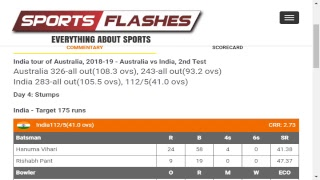 Live: Australia vs India #2ndTest Day4 #Cricket Match English Commentary from Stadium #Sportsflashes