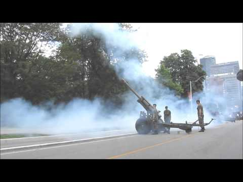 Canada Day Gun Salute and Music 2015 Queen's Park Toronto