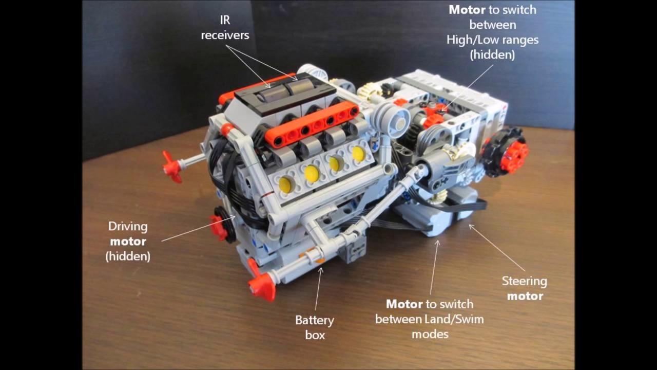 LEGO Technic Tracked Vehicle Transmission with Engine ...