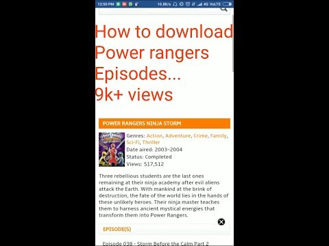 How To Download Full Episodes Of Power Rangers