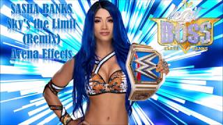 Sasha Banks New Entrance Theme with Arena Effects - Sky's the Limit (Remix)  feat. Snoop Dogg 2020