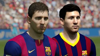 FIFA 14 vs FIFA 15 Faces! feat Messi, Suarez, Hazard & More! | HD 1080p