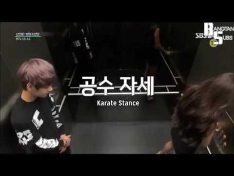 ENG Subs BTS funny LIFT SCENE Hidden Camera Prank