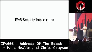 #HITB2018DXB D1T2: IPv666 - Address Of The Beast - Marc Newlin and Chris Grayson