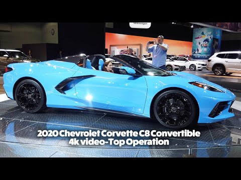 2020 Chevrolet Corvette C8 Convertible Top Closing And Opening 4k