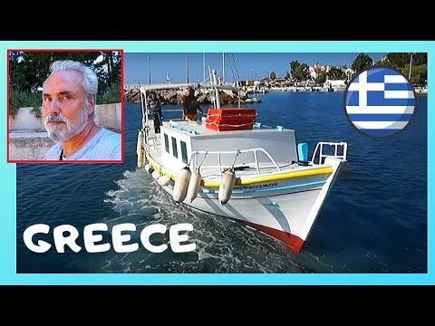 GREECE: Island of IKARIA, BOAT RIDE with 85-year old captain, BEAUTIFUL VIEWS