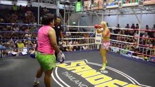 Katya Phuket Top Team Russia Pechnamnung Muay Thai Fight 10 Feb 2016