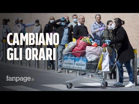 Supermercati, cambiano gli orari dal 14 aprile: chiusure posticipate per evitare le file