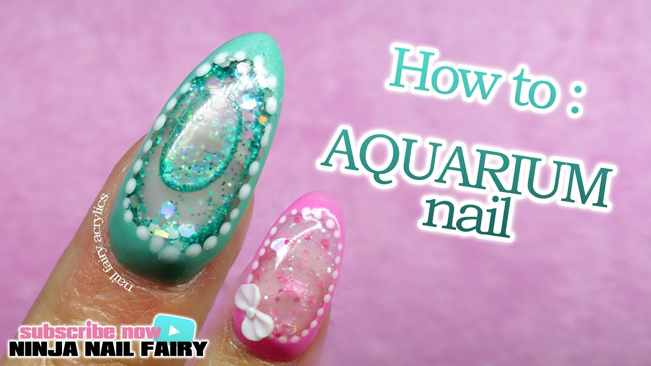 How to do an aquarium nail on the full nail | water nail - YouTube