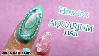 How to do an aquarium nail on the full nail | water nail