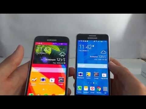 Samsung Galaxy Alpha vs Galaxy S5 összehasonlító videó