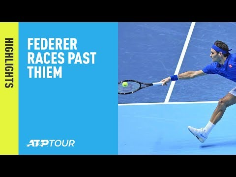 Highlights: Federer Races Past Thiem At The 2018 Nitto ATP Finals