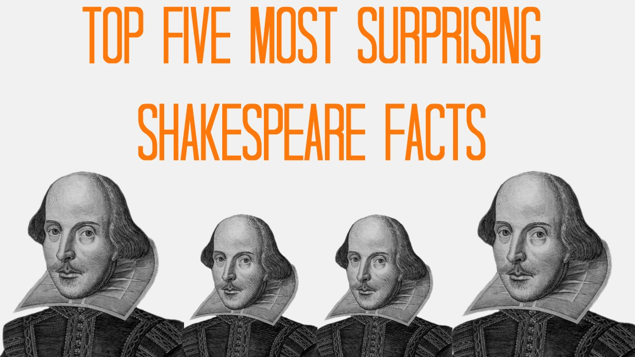TOP FIVE MOST SURPRISING FACTS ABOUT WILLIAM SHAKESPEARE - YouTube