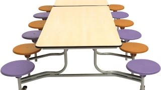 Spaceright 16 Seat Rectangular Mobile Folding School Table Seating Units