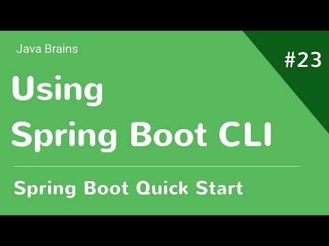 Spring Boot Quick Start 23 - Using Spring Boot CLI