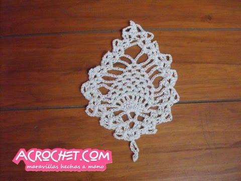 Posavaso piña tejido a crochet - YouTube